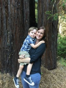 Carey with her son Forest
