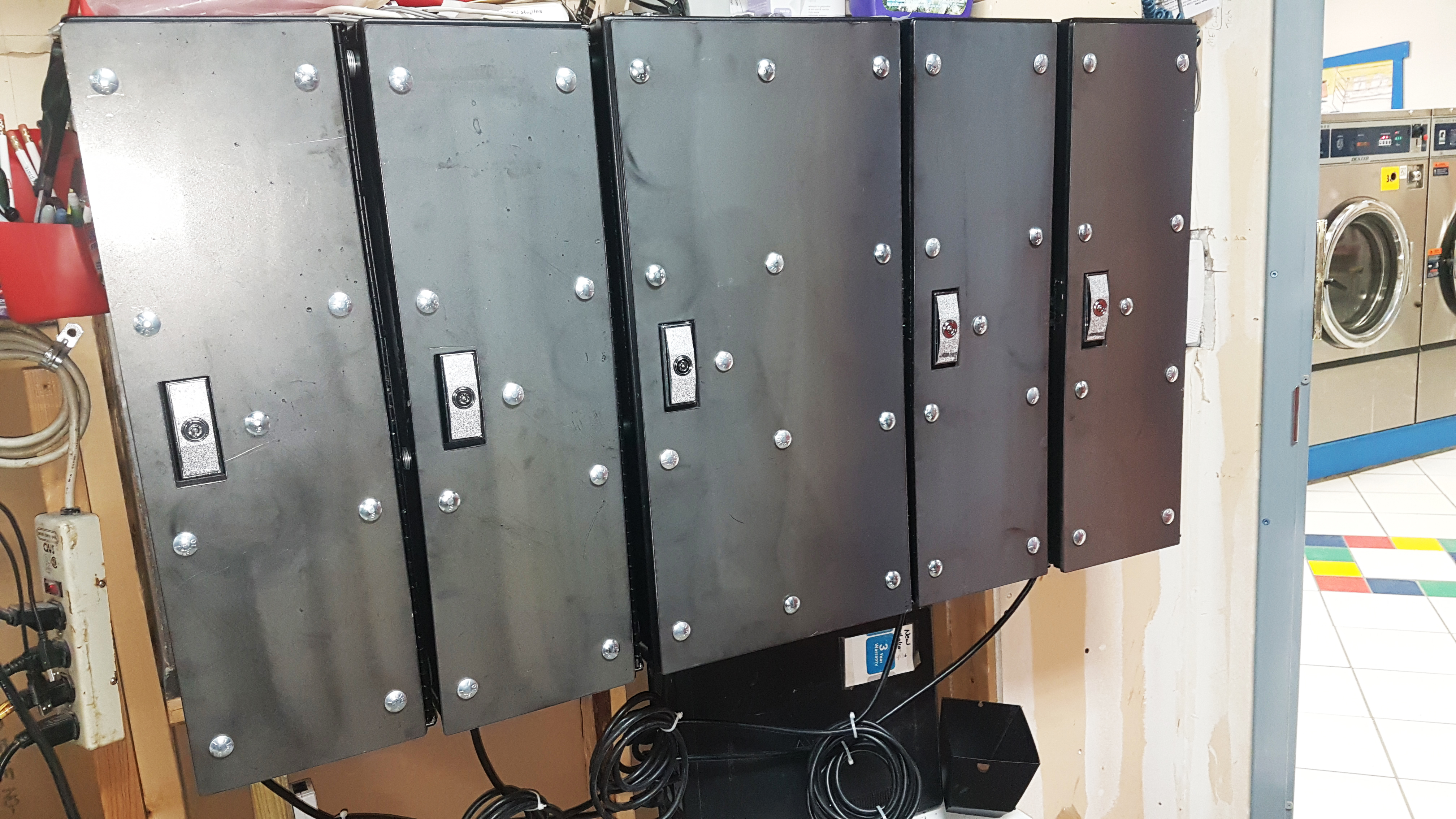 Multiple Changer Armer plates installed with doors locked