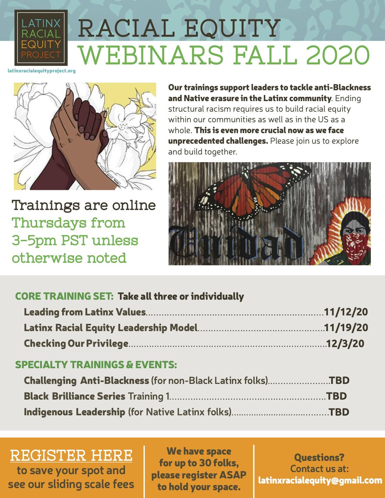 Fall 2020 Trainings