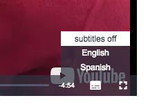select from multiple subtitles while video is playing