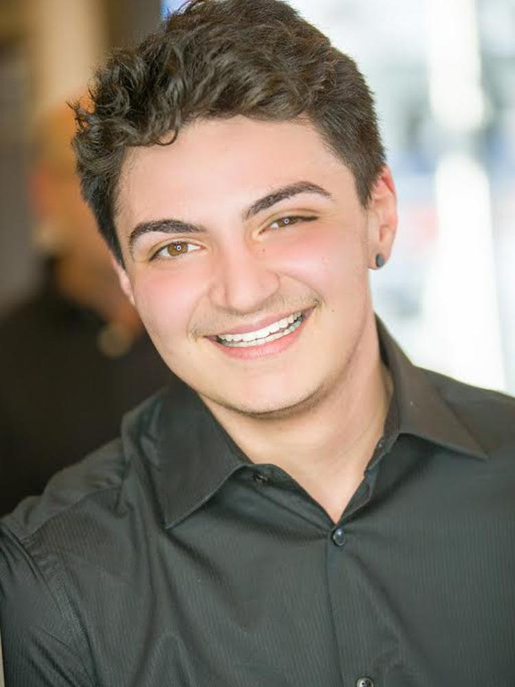 Receptionist Anthony D'Allensandro at HairMates Salon in Stoneham