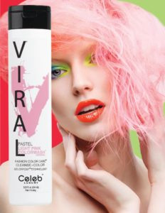 Photo of VIRAL Bold Tones Pastel Light Pink Colorwash Shampoo Bottlesold atStoneham Hair Salon