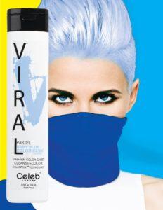 Photo of VIRAL Bold Tones Pastel Baby Blue Colorwash Shampoo Bottlesold atStoneham Hair Salon