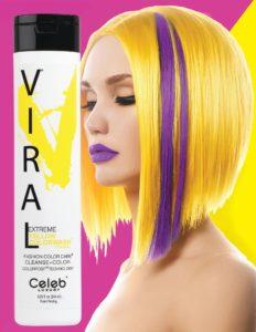 Photo of VIRAL Bold Tones Extreme Yellow Colorwash Shampoo Bottlesold atStoneham Hair Salon