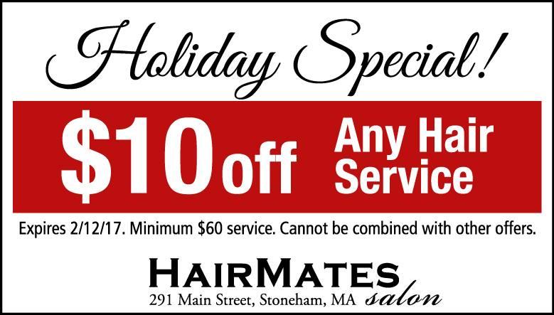 holiday specials at Stoneham MA hair salon