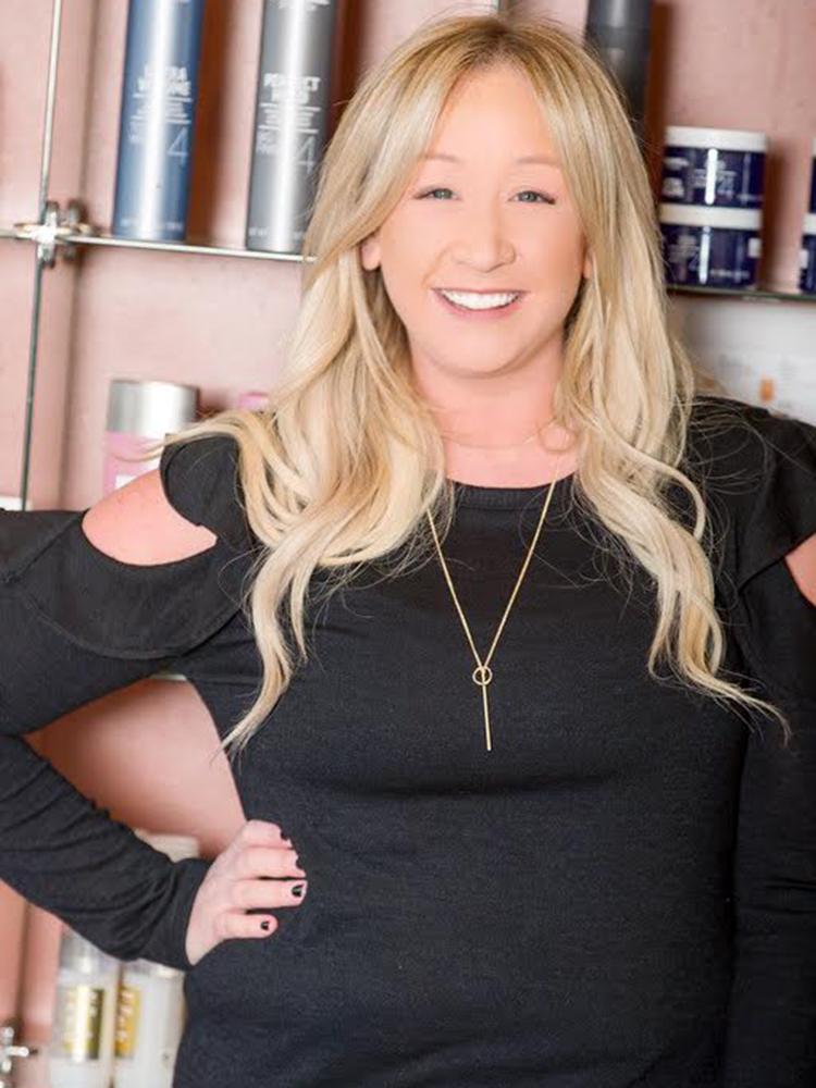 Hair stylist and colorist Ashley Adams