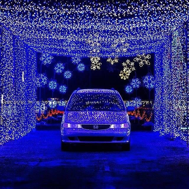 Musical Christmas Lights at Utah Lake