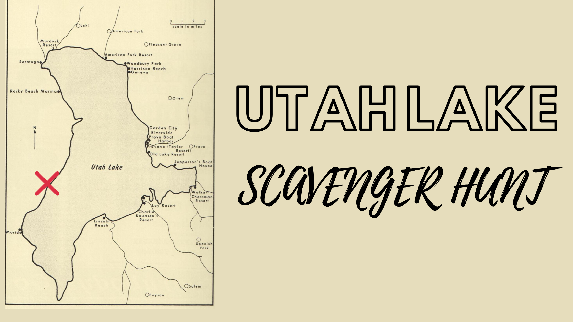 Utah Lake Scavenger Hunt