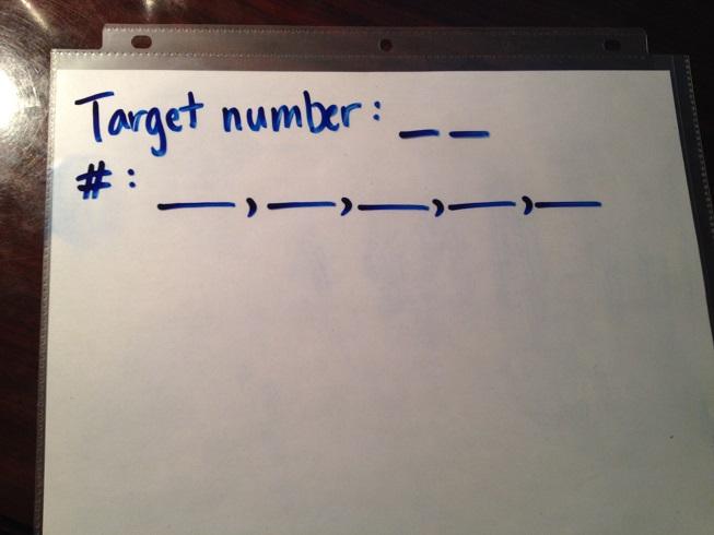 Set up your board for Target Number