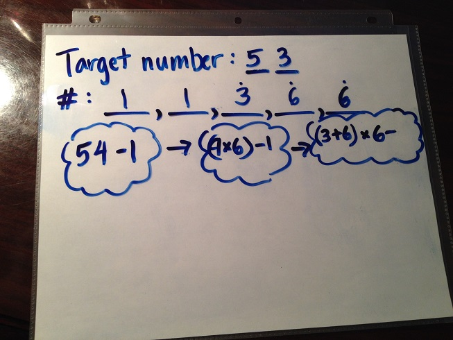 Thinking process for Target Number