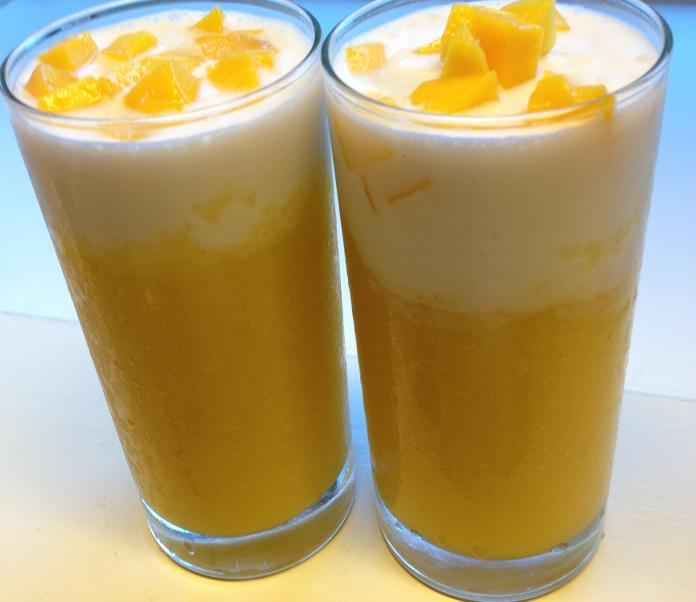 refreshing mango coconut drink