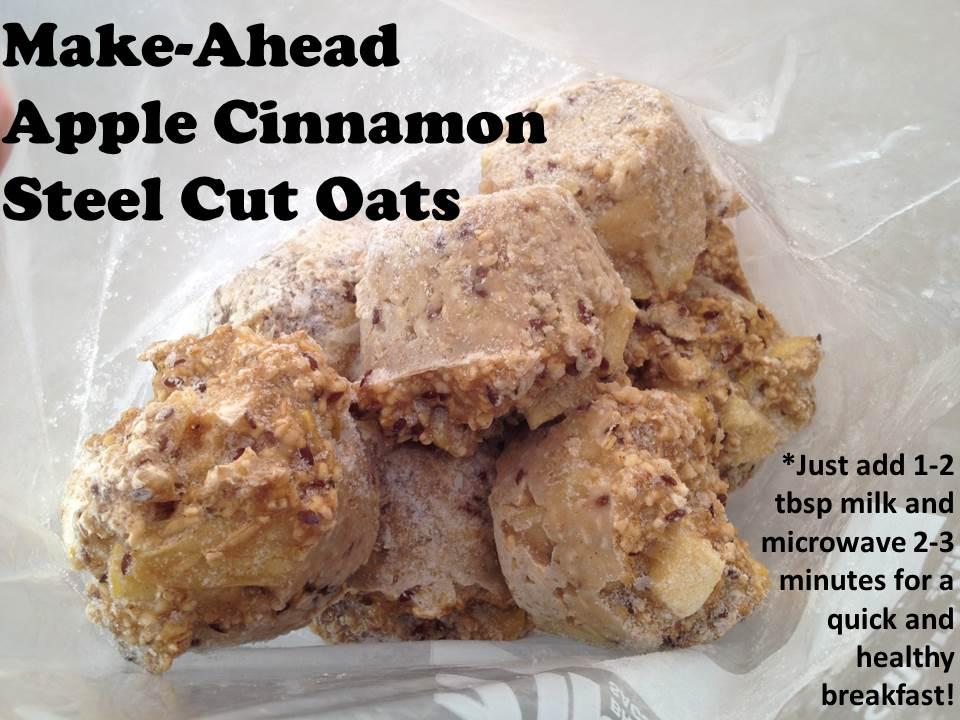 Make Ahead Apple Cinnamon Steelcut Oatmeal Recipe