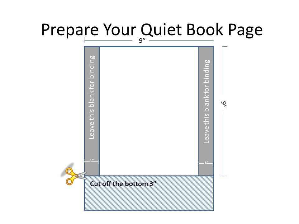 Prepare your quiet book page