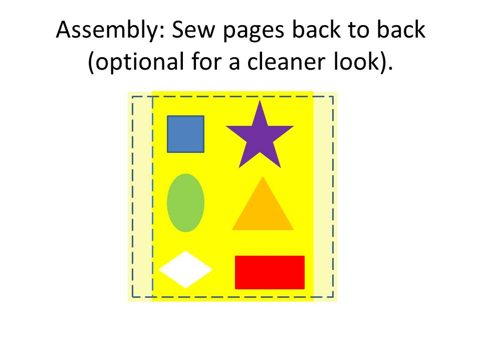 Sew pages together back to back for a cleaner look