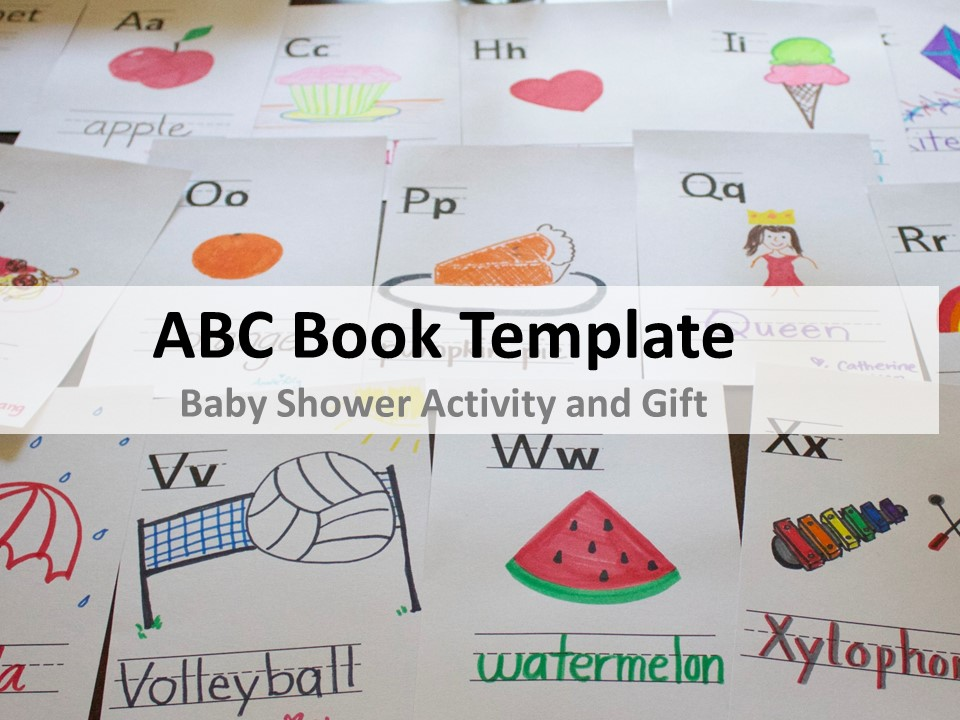 Baby Shower ABC Book Template