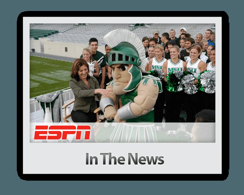 Future Media Corporation crews a live shot episode of ESPN's Cold Pizza in Spartan Stadium