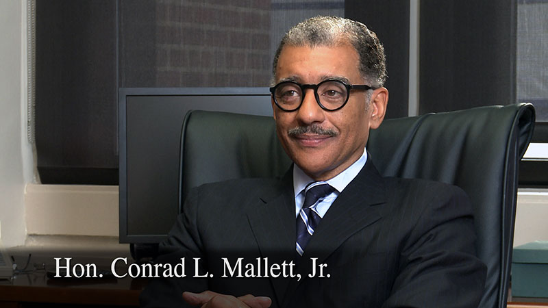 Interview of Hon. Conrad Mallet, Jr. by Bill Ballenger for the Governor James J. Blanchard Living Library of Michigan Political History, sponsored by the Michigan Political History Society, recorded by Future Media Corporation.