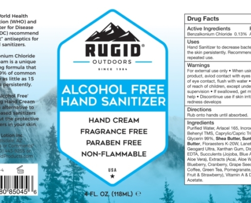 hand sanitizer product label