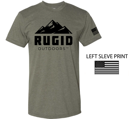 front of the rugid t-shirt