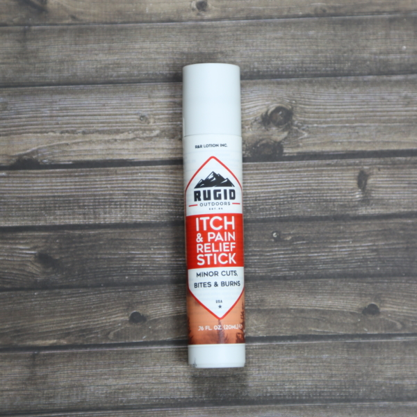 rugid itch stick on a wooden background