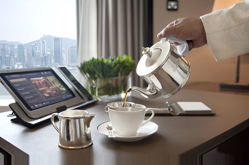 Touch screen technology in every room. Photo: Peninsula Hotels