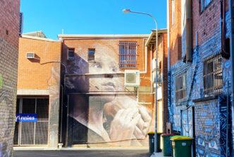 A large mural by Guido van Helten. Credit: Chris Ashton