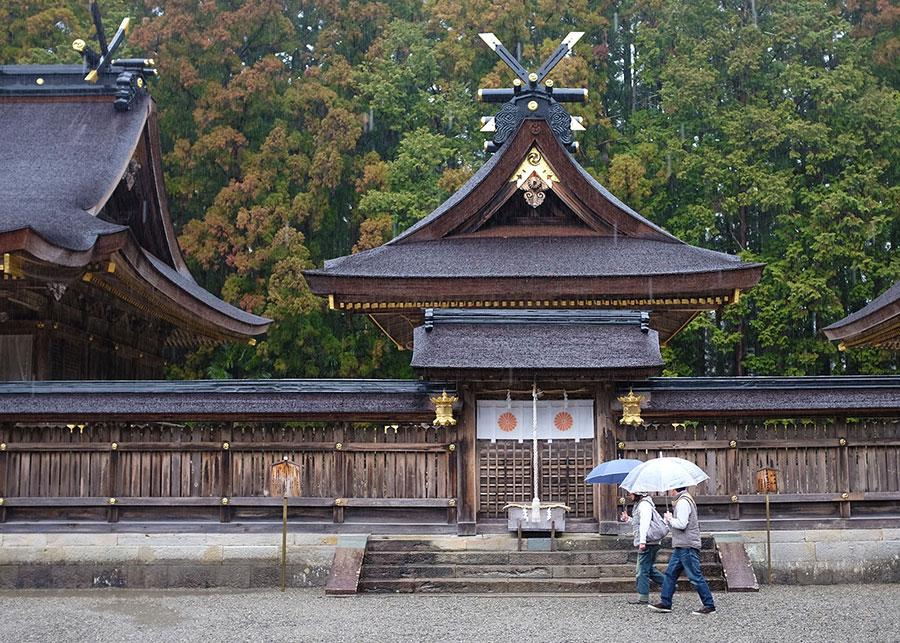 The inner sanctum of the Kumano Hongu Taisha shrine