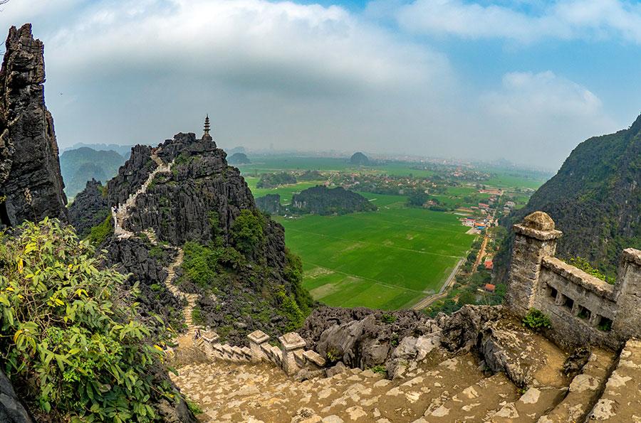 A bird's eye view across Tam Coco. Photo: Supplied