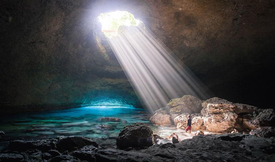 Tanna Blue Cave. CreditL Joel Johnsson. Supplied.