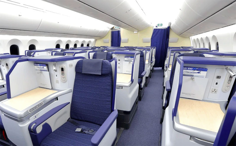 ANA Business Class. Credit: All Nippon Airways