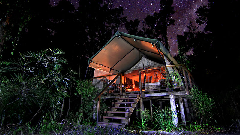 A luxury glamping tent. Credit: Glamping Hub