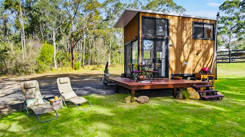 Tiny home in Kangaroo Valley. Credit: TinyAway