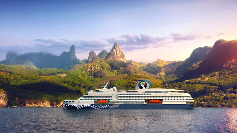 A render of Aranui Cruises' new AraMana ship. Credit: Aranui Cruises