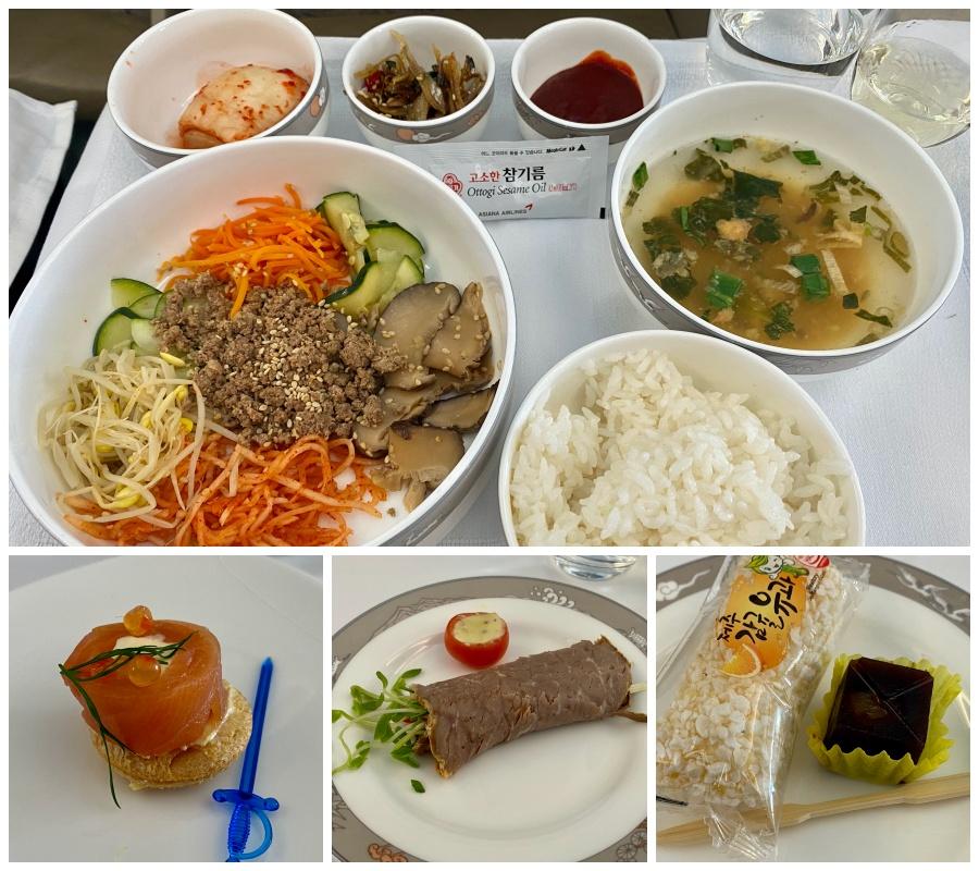 A taste of Asiana's inflight dining. Credit: Chris Ashton