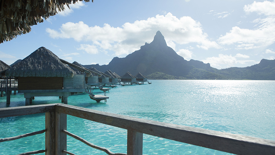 Overwater bungalows in Bora Bora. Credit: Tahiti Tourisme