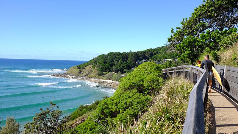The path leading to Wategos Beach. Photo: Chris Ashton