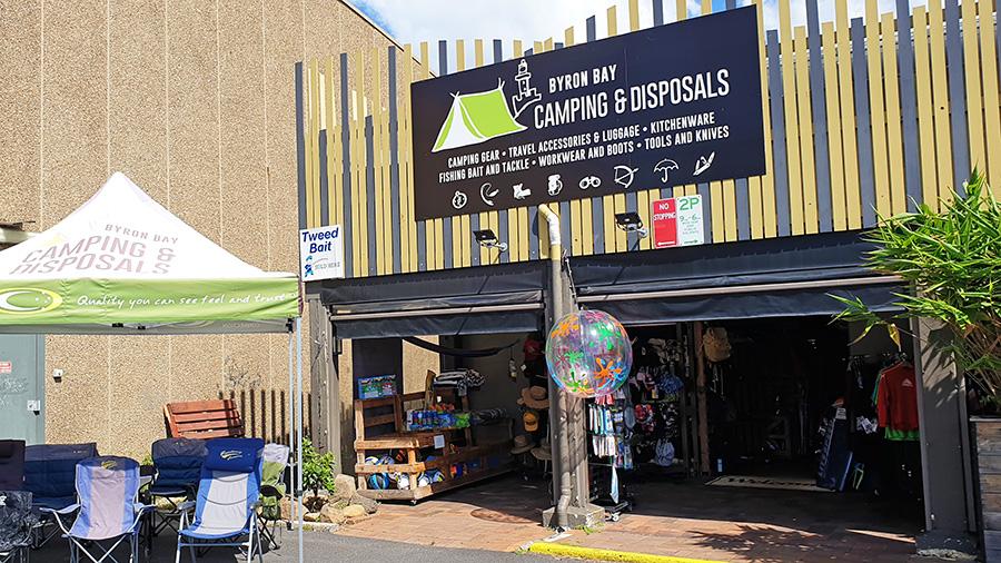 Byron Bay Camping & Disposals. Credit: Supplied