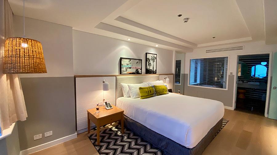 Qt Gold Coast Suite bedroom. Credit: Chris Ashton