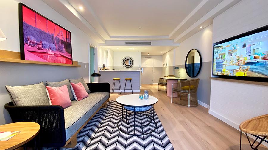 QT Gold Coast King Suite Ocean View. Credit: Chris Ashton