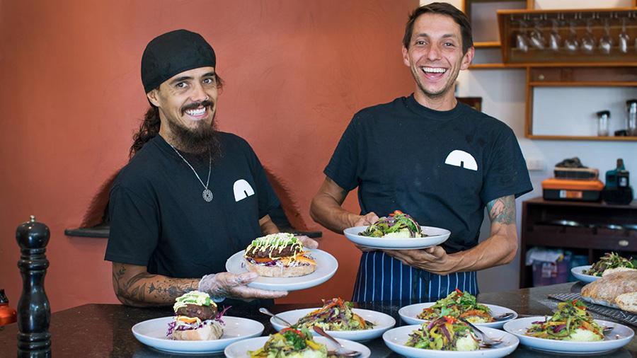 The chef team at OCA. Credit: OCA Organic Cuisine & Arts