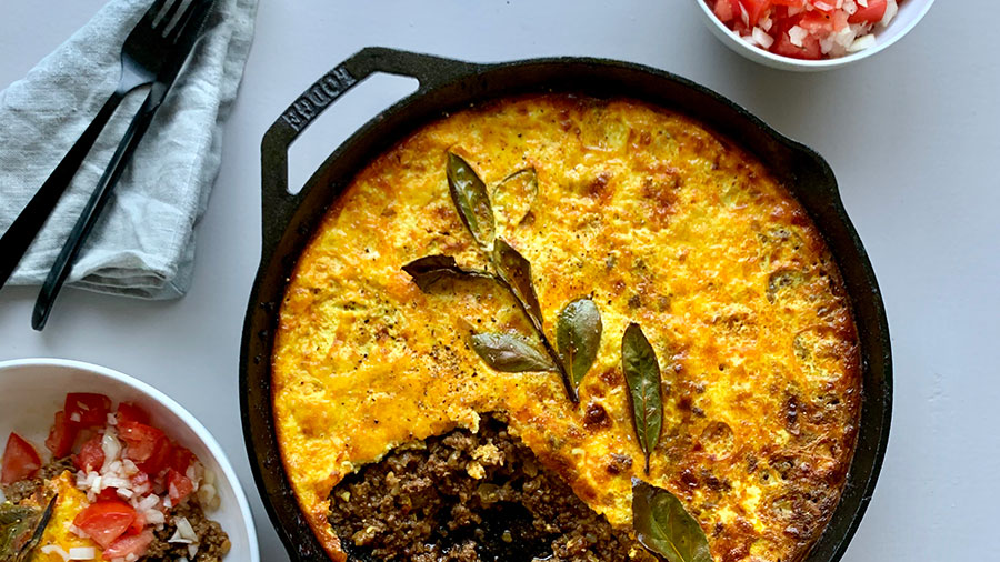 Bobotie, South Africa's national dish. Credit: South African Tourism
