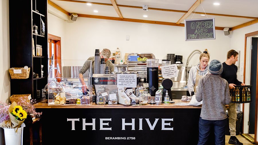 Honey and coffee at The Hive, Bilpin. Credit: Supplied