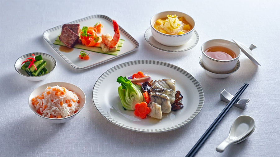 A sample of the Singapore Airlines Business Class menu. Credit: Singapore Airlines