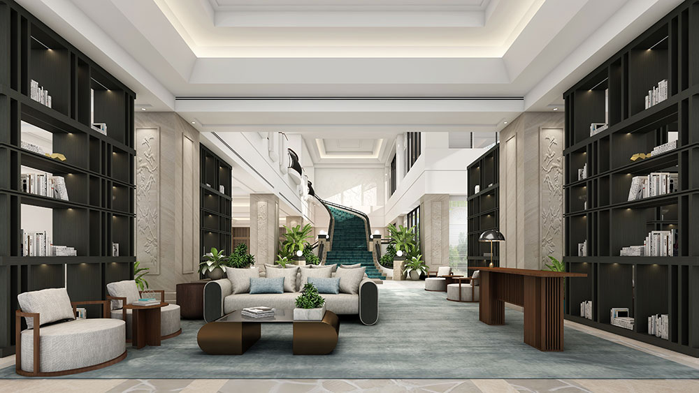 A render of the new Concierge Library. Credit: Marriott International. Supplied.