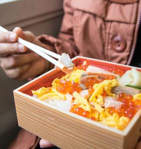 Eki-ben, a quintessential Japanese experience. Supplied.