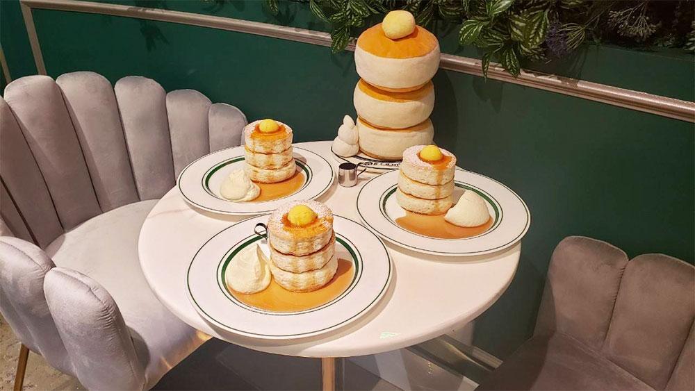 Japanese soufflé pancakes. Credit: Gram