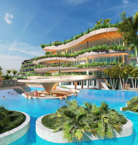 Render of the new Fairmont Port Douglas. Credit: Buchan / Chiodo