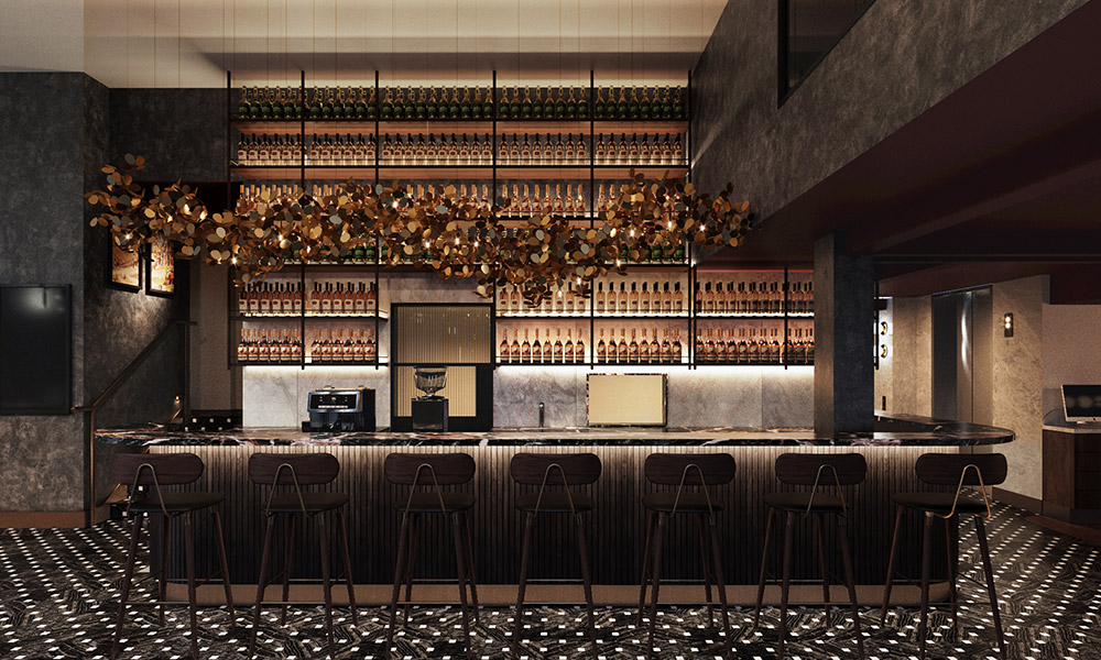 The bar at Aiden Darling Harbour. Credit: Supplied