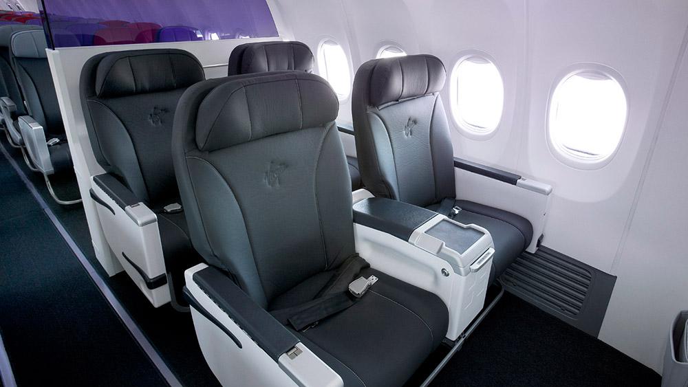 Virgin Australia 373-800 Business Class. Supplied.