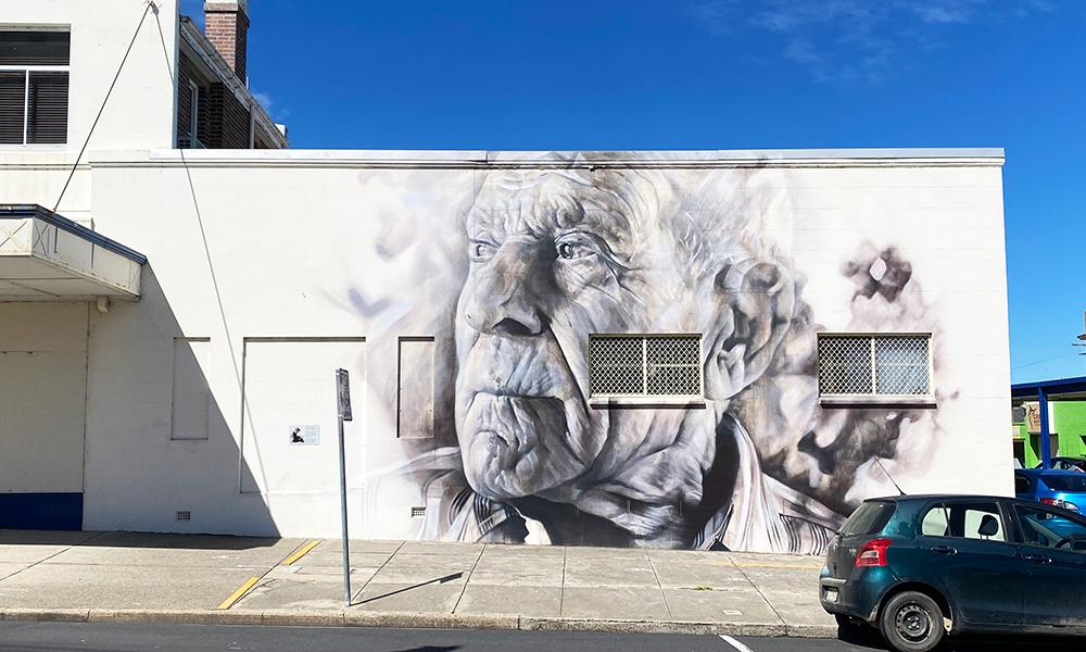 A mural of Angelo Valiante, by Guido van Helten. Credit: Chris Ashton